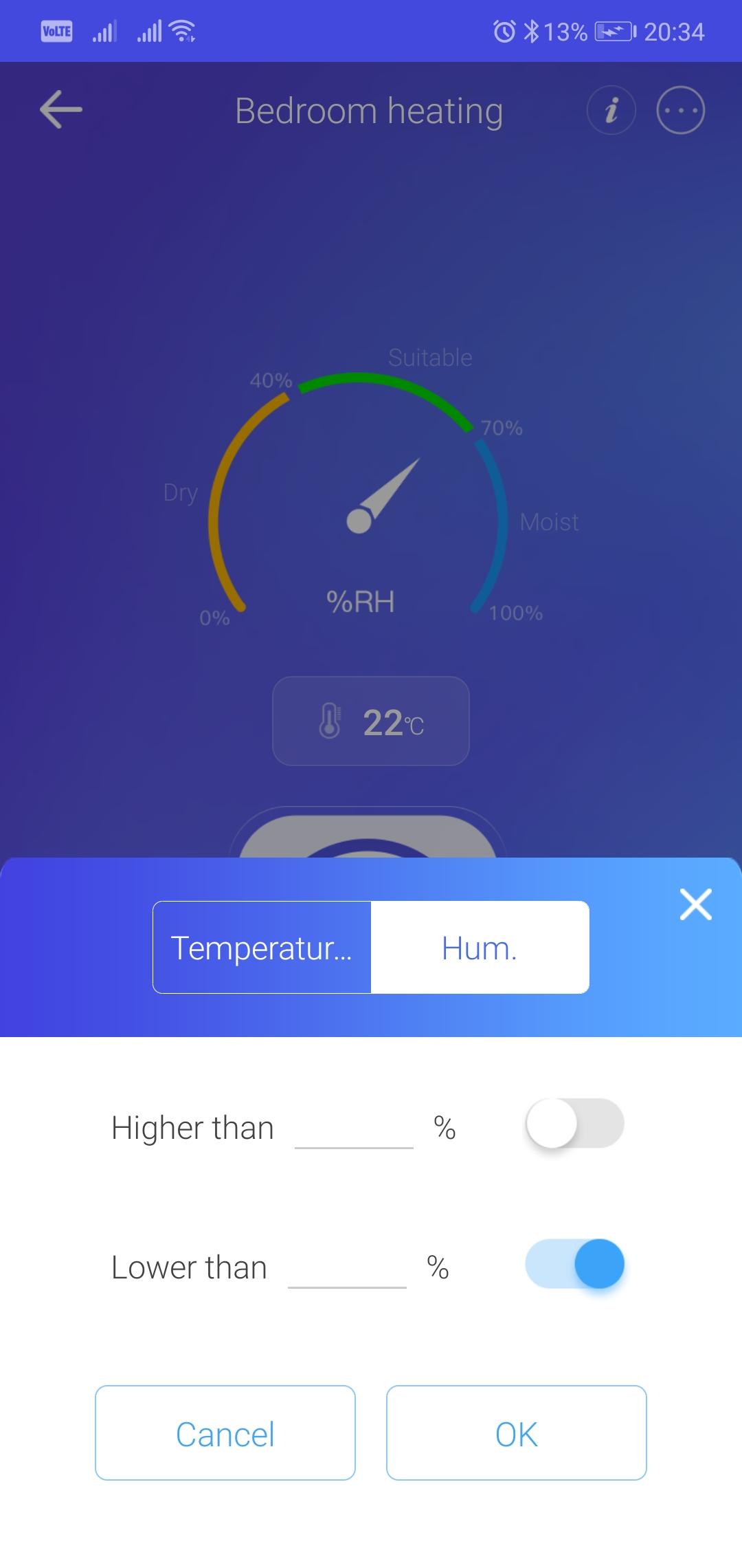Chytrá domácnost - vytápění ložnice, měření teploty