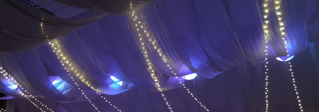 Osvětlení LED na svatbě