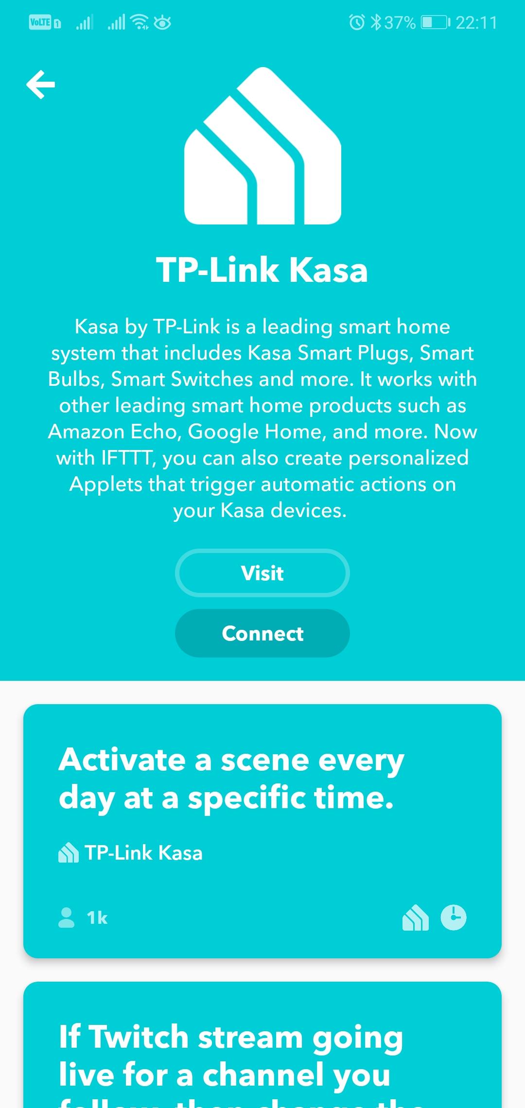 IFTTT - tp-link | kasa smart