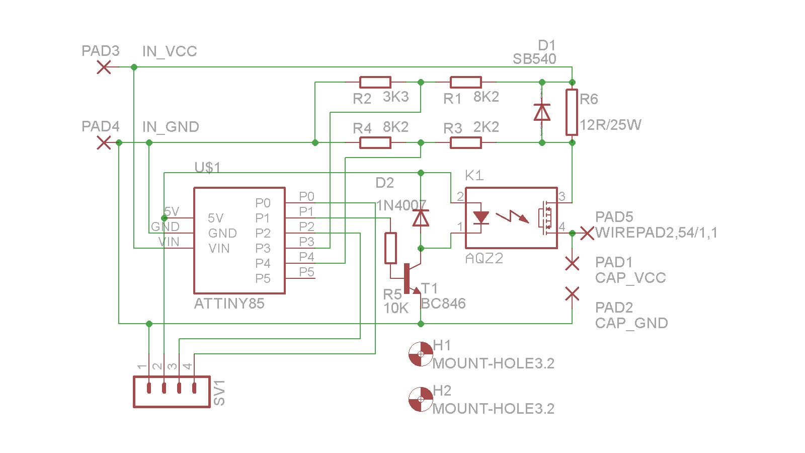 UPS pro 3D tiskárnu - schéma zapojení