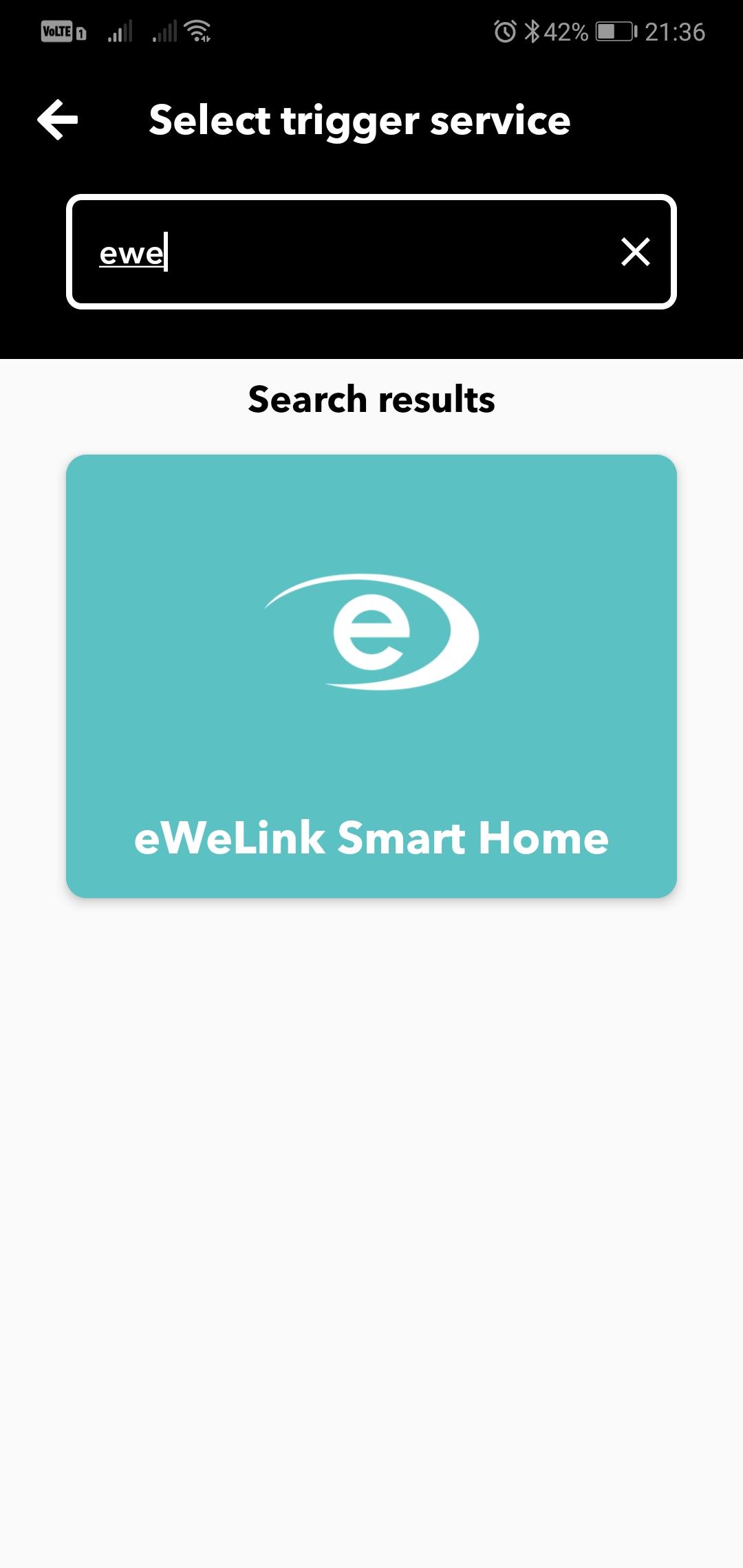 IFTTT - eWeLink