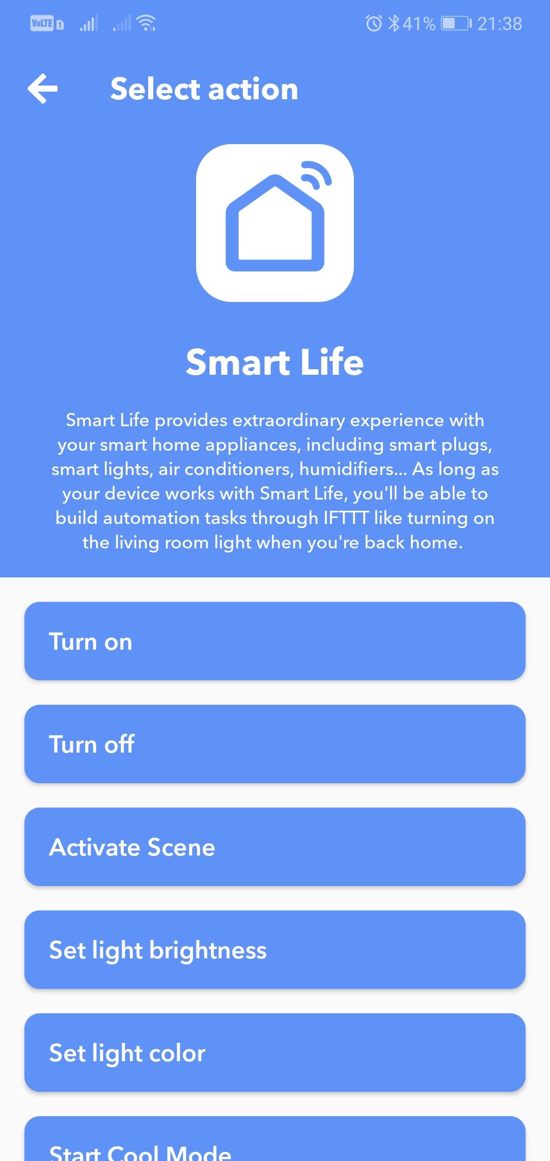 IFTTT - Smart Life