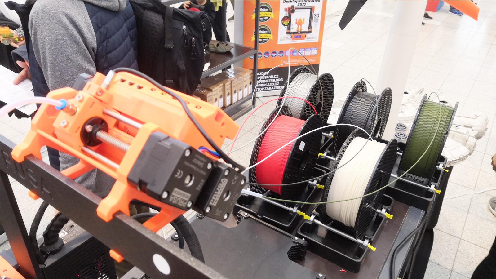Multimaterial MMU2 Original Prusa Mini Maker Faire Brno