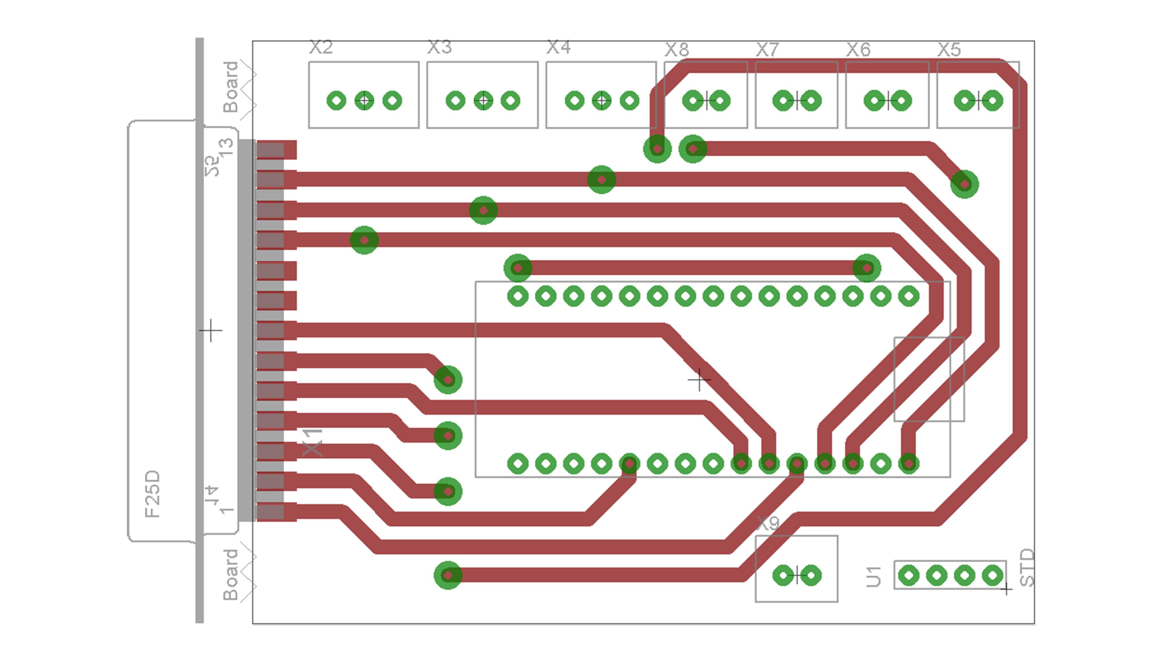 GRBL převodník - PCB design