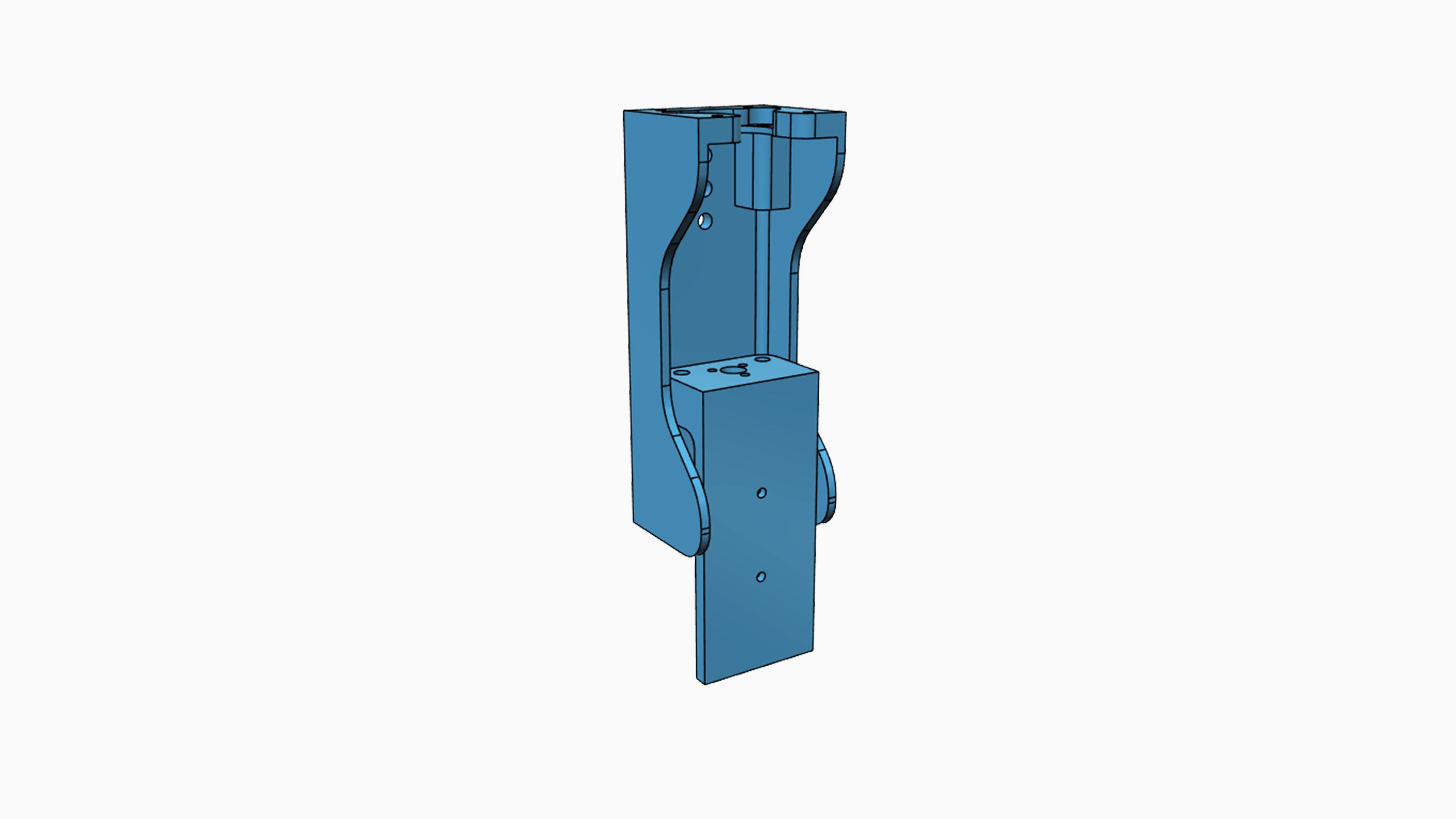 3D model Z osy laseru