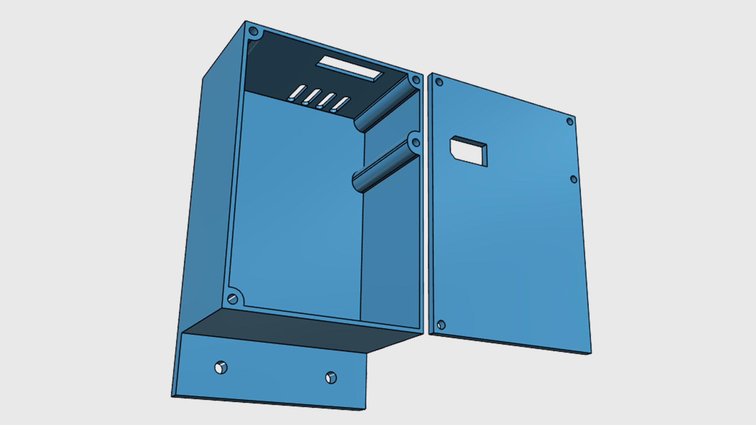 Model pouzdra UPS záložního zdroje pro 3D tiskárnu