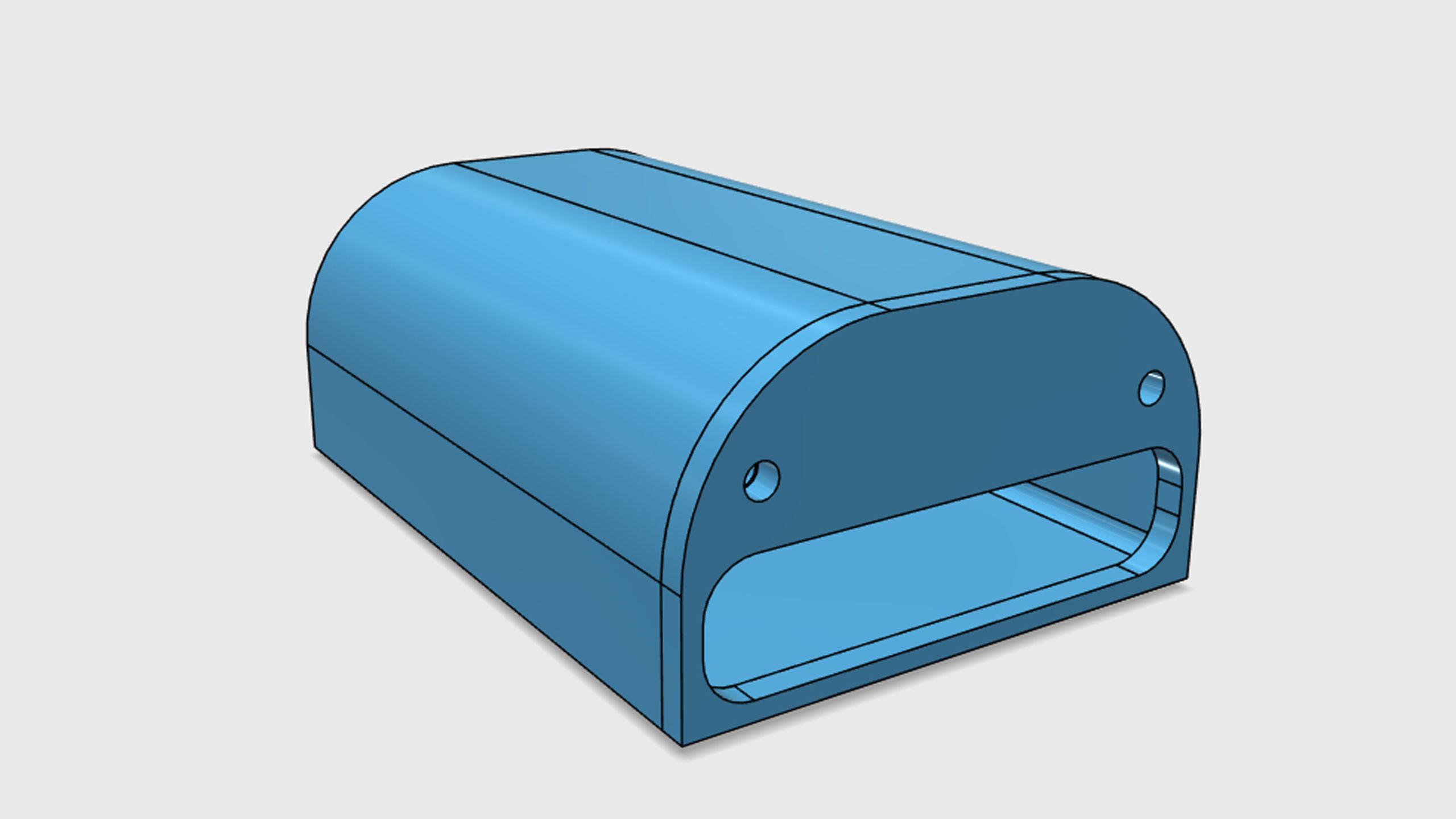 Model pouzdra pro GRBL převodník - paralelní port