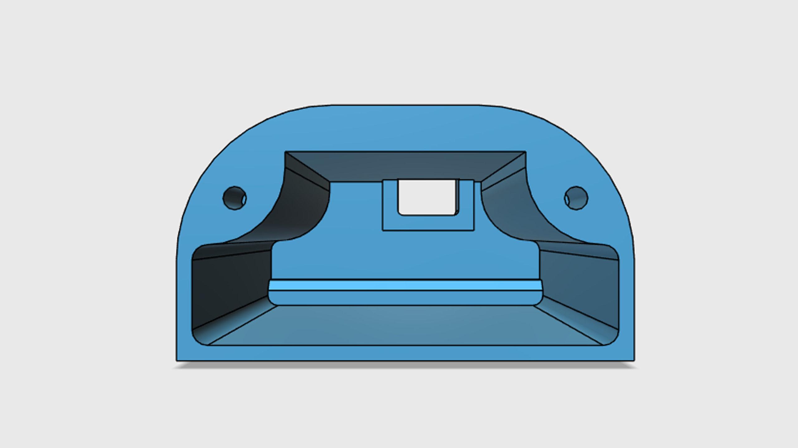 Model pouzdra pro GRBL převodník připravený pro 3D tisk