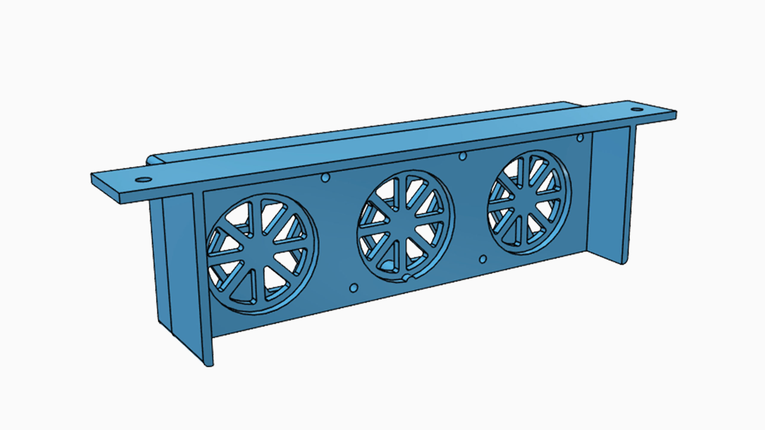 3D model vzduchového filtru