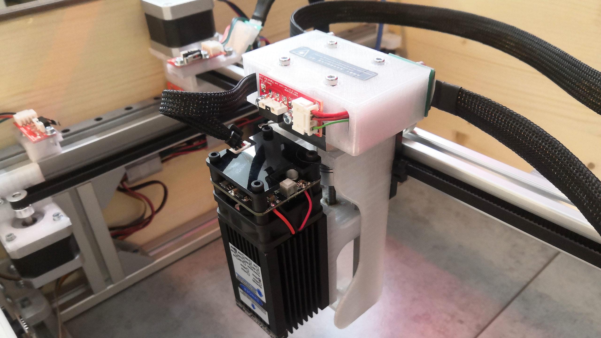 20W laser - koncový spínač Z