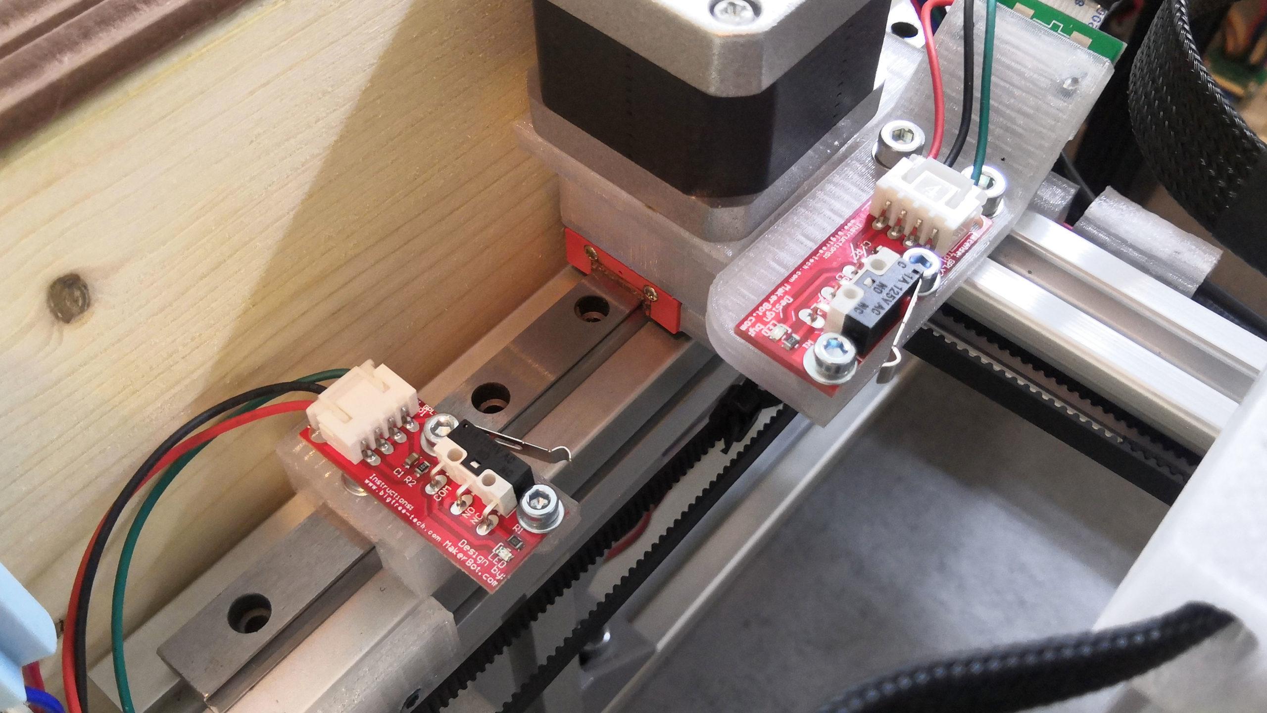 20W laser - koncové spínače X a Y