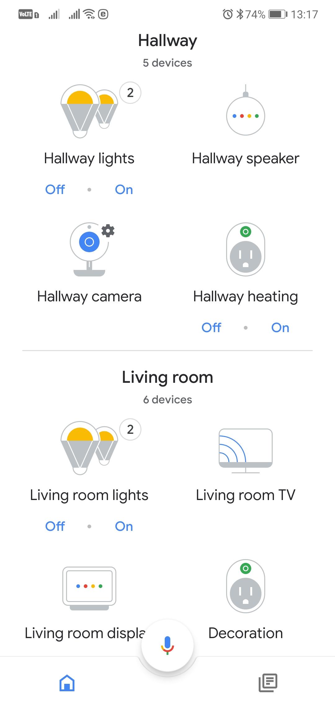 Google Home - domácnost