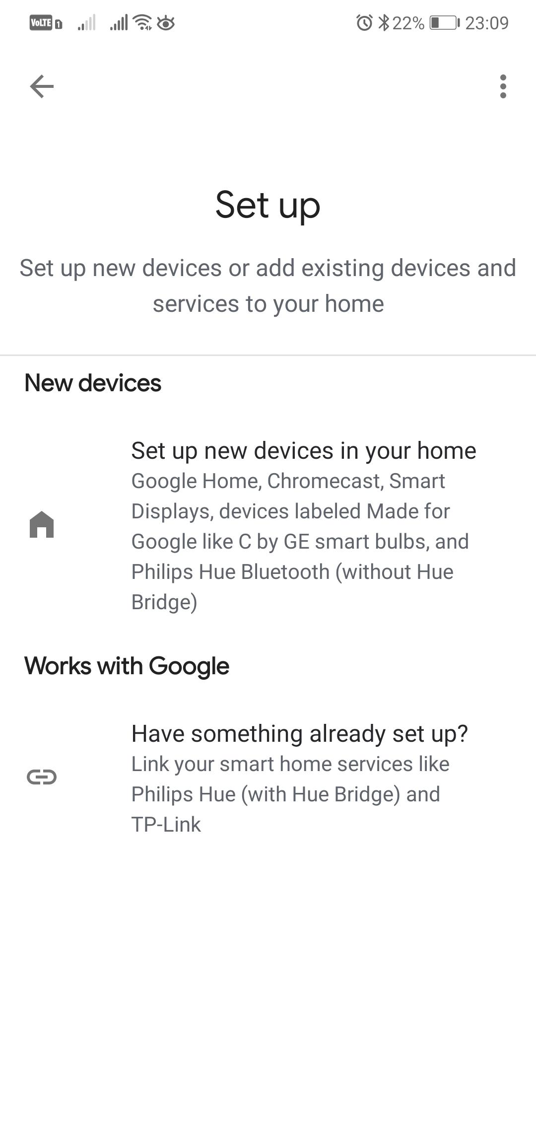 Google Home - přidání zařízení
