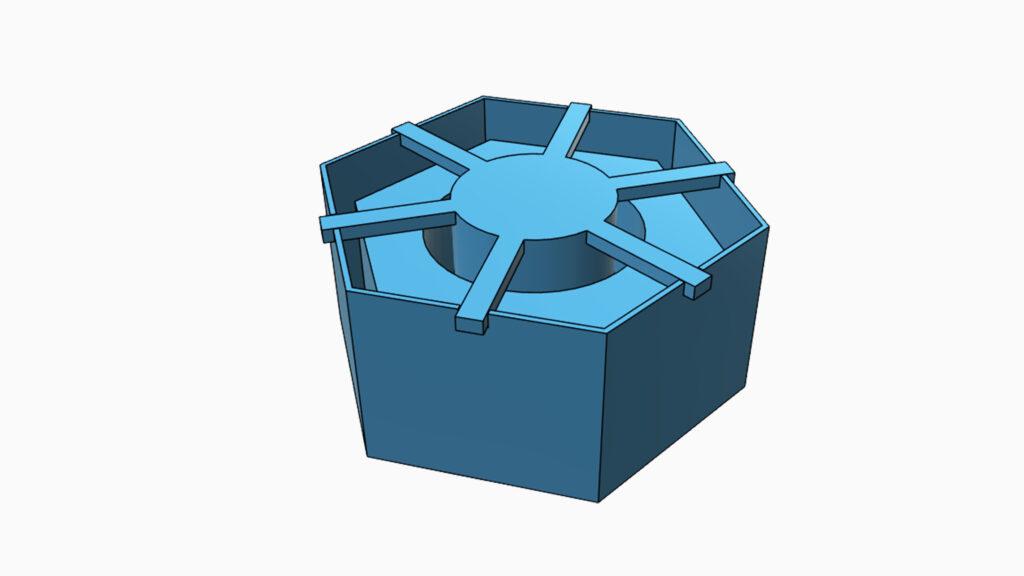 Model formy pro odlévání silikonu