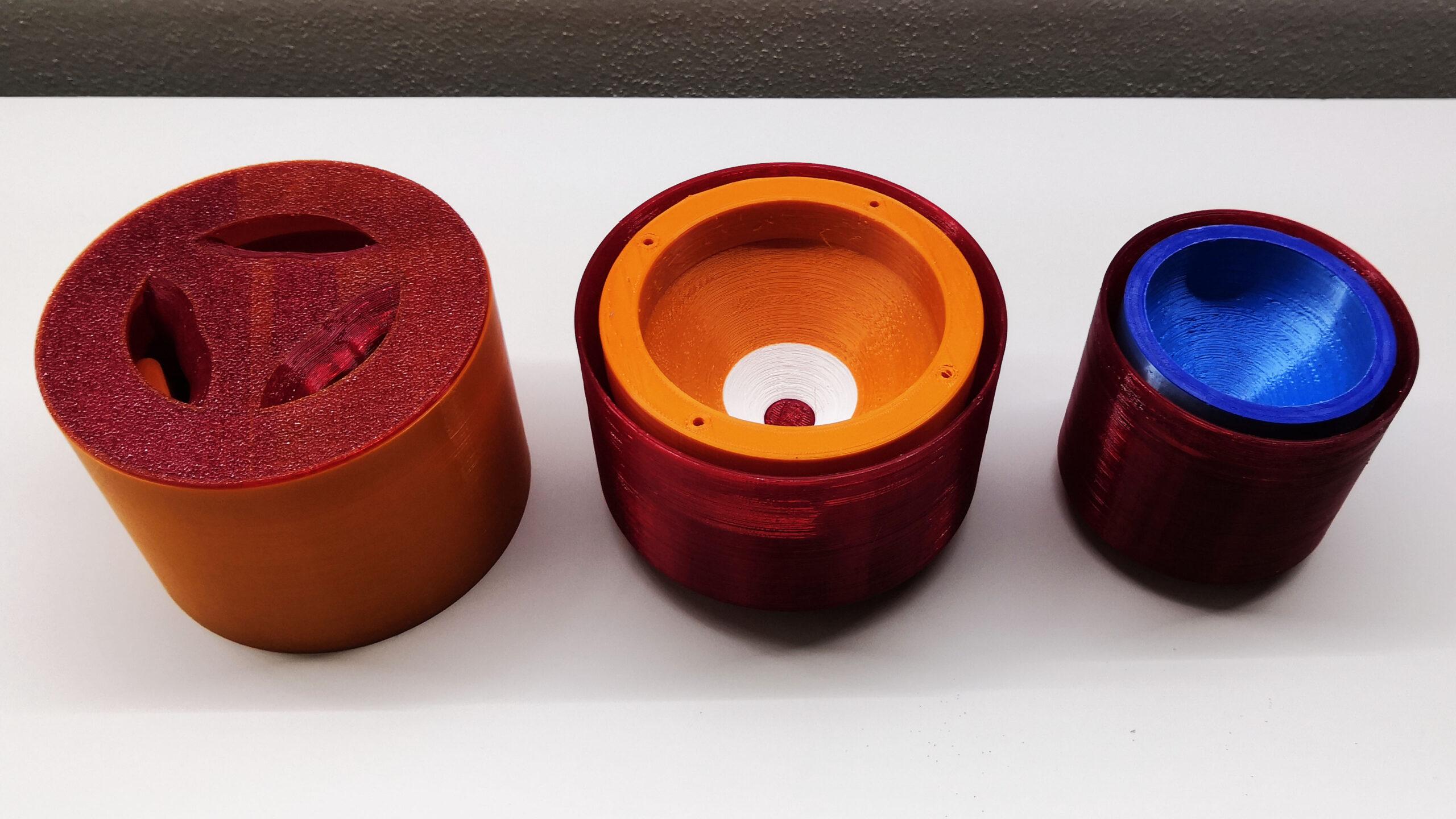 Výtisk formy pro odlévání silikonu