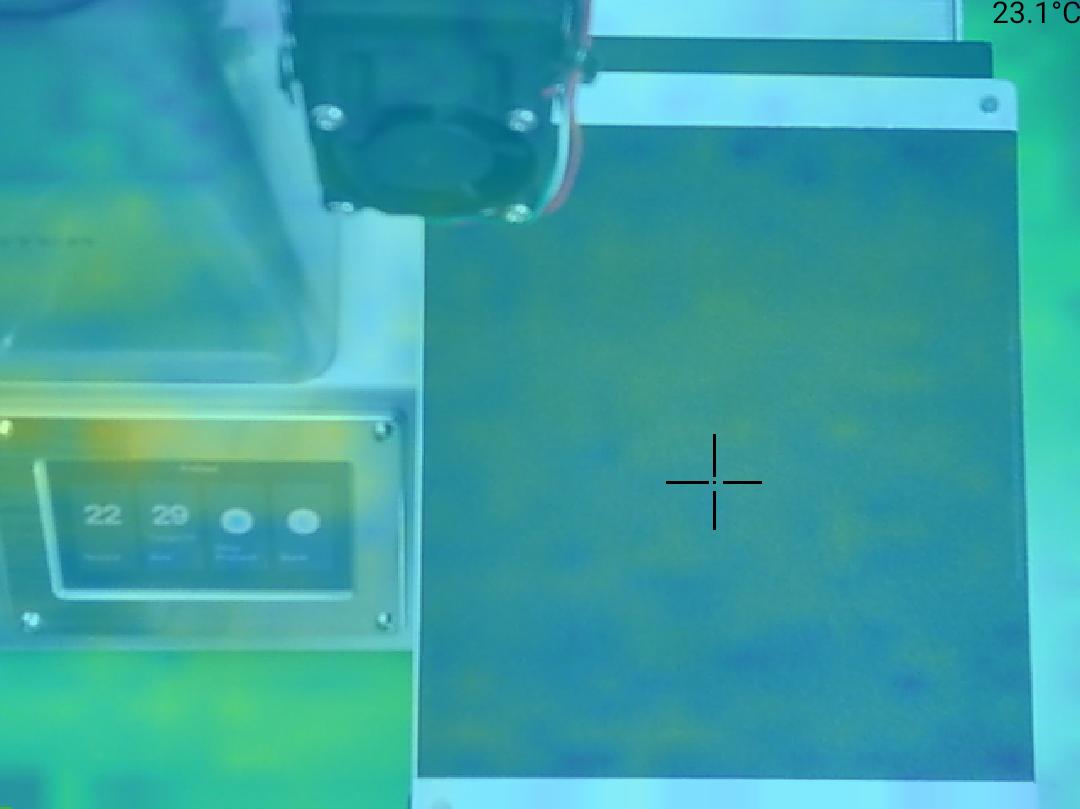 Monoprice Select Mini Pro 3D Printer - Rozdíl teplot