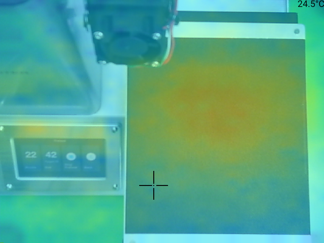 Monoprice Select Mini Pro 3D Printer - Teplota 25 okraj