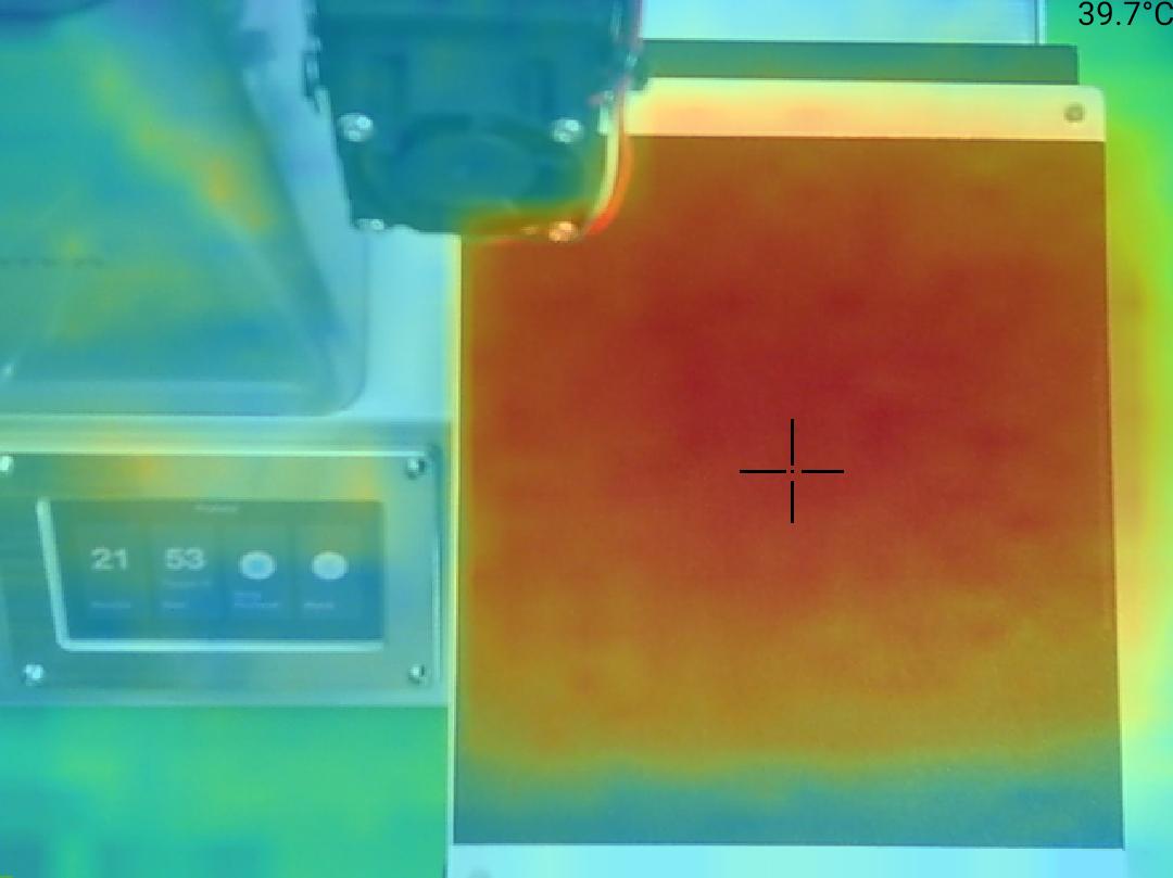 Monoprice Select Mini Pro 3D Printer - Teplota 40 střed