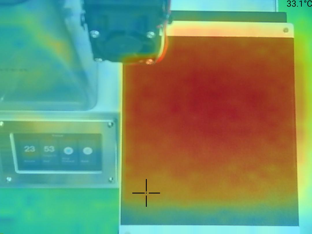 Monoprice Select Mini Pro 3D Printer - Teplota 33 okraj