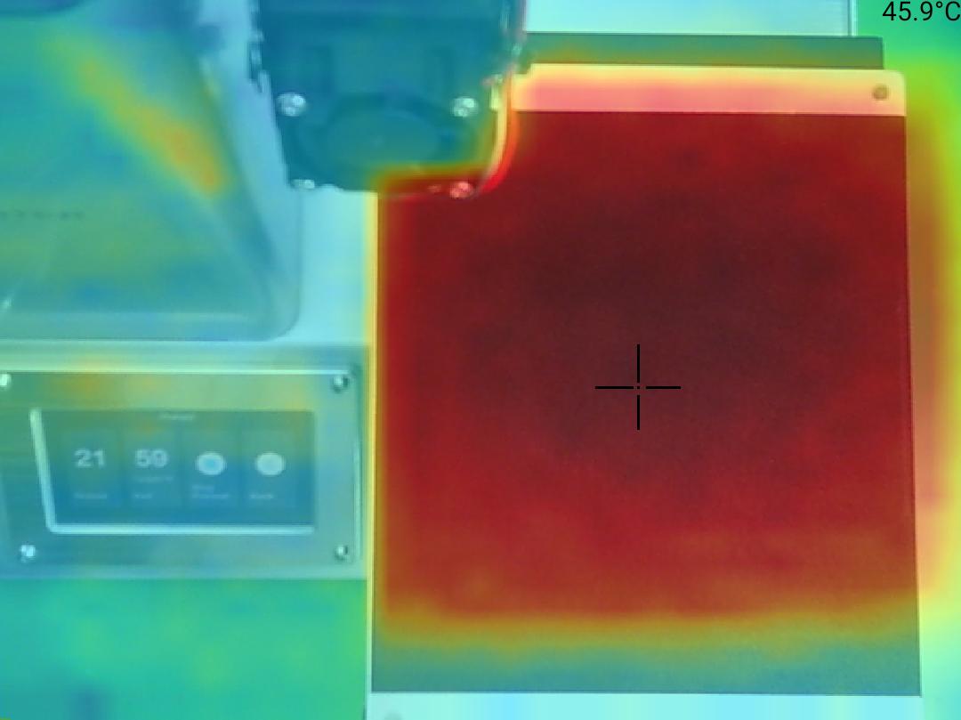 Monoprice Select Mini Pro 3D Printer - Teplota 46 střed