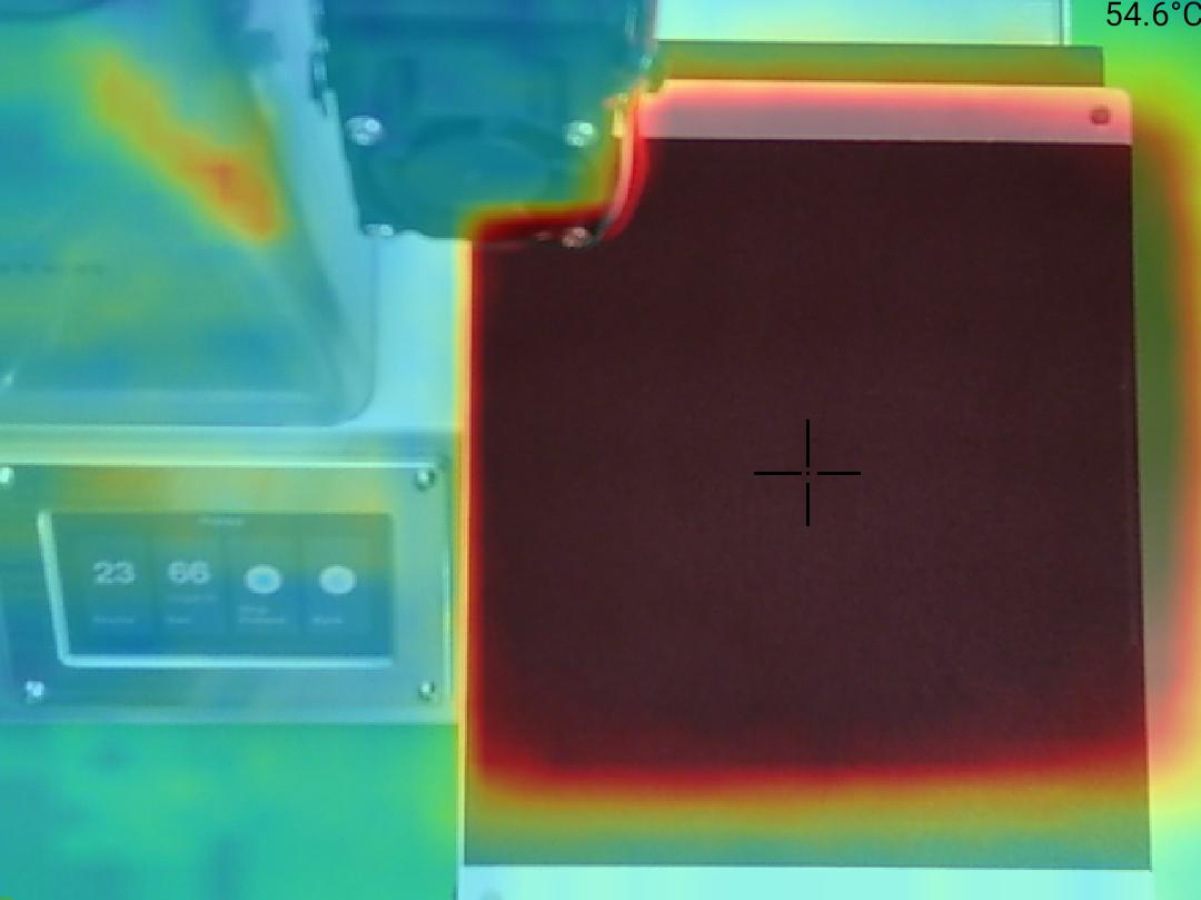 Monoprice Select Mini Pro 3D Printer - Teplota 55 střed
