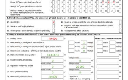 Přehled o příjmech a výdajích OSVČ