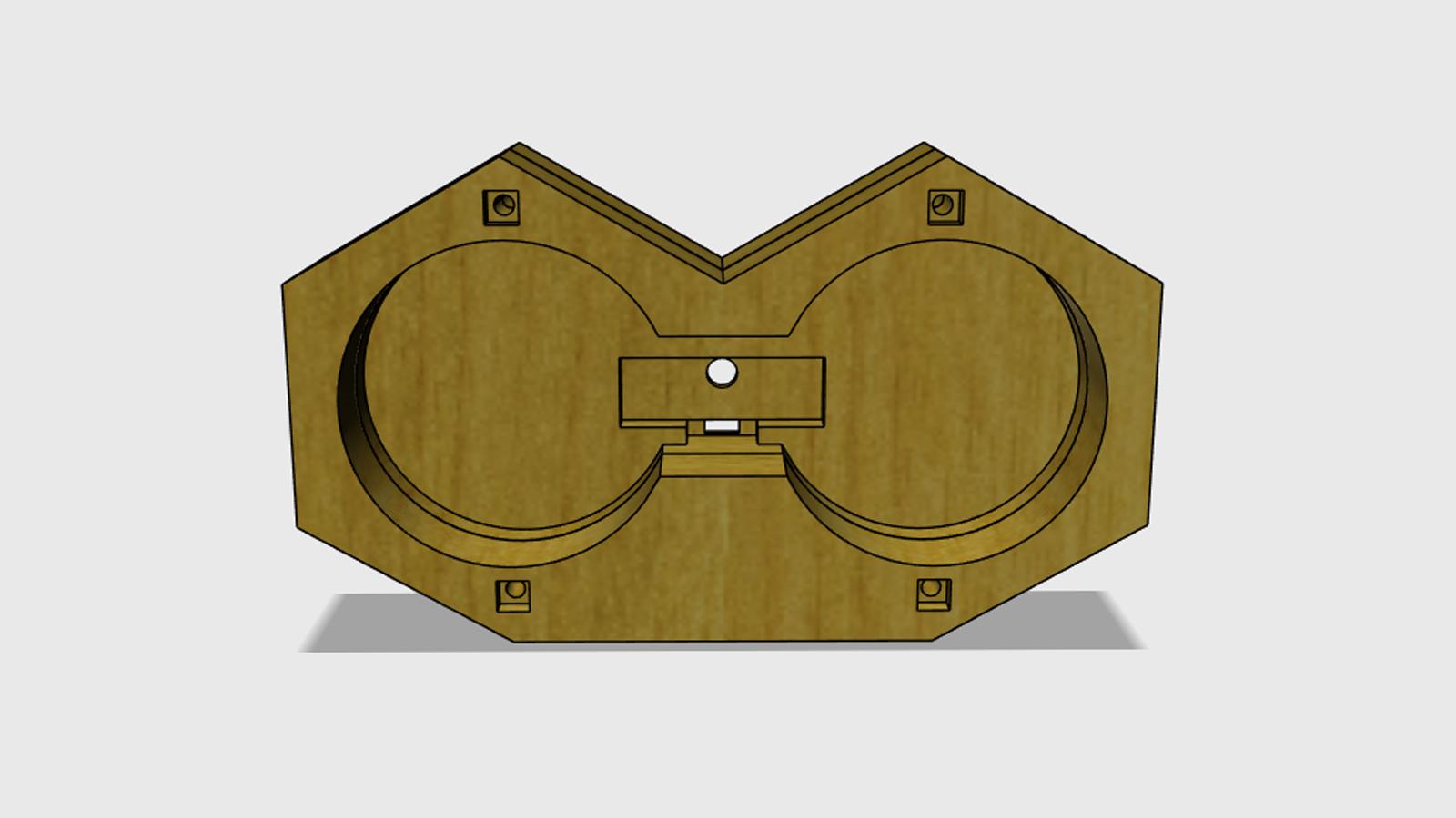 Model BT reproduktoru - zadní část