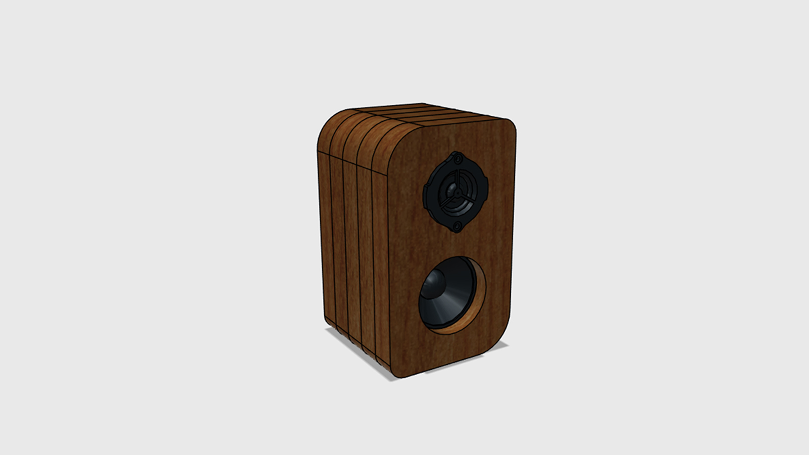 Reproduktory z akátového dřeva - model