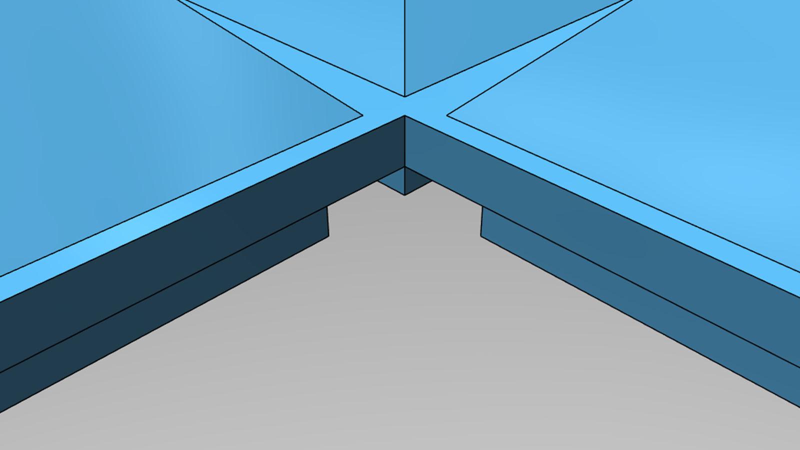 Model krabičky pro CO2 detail