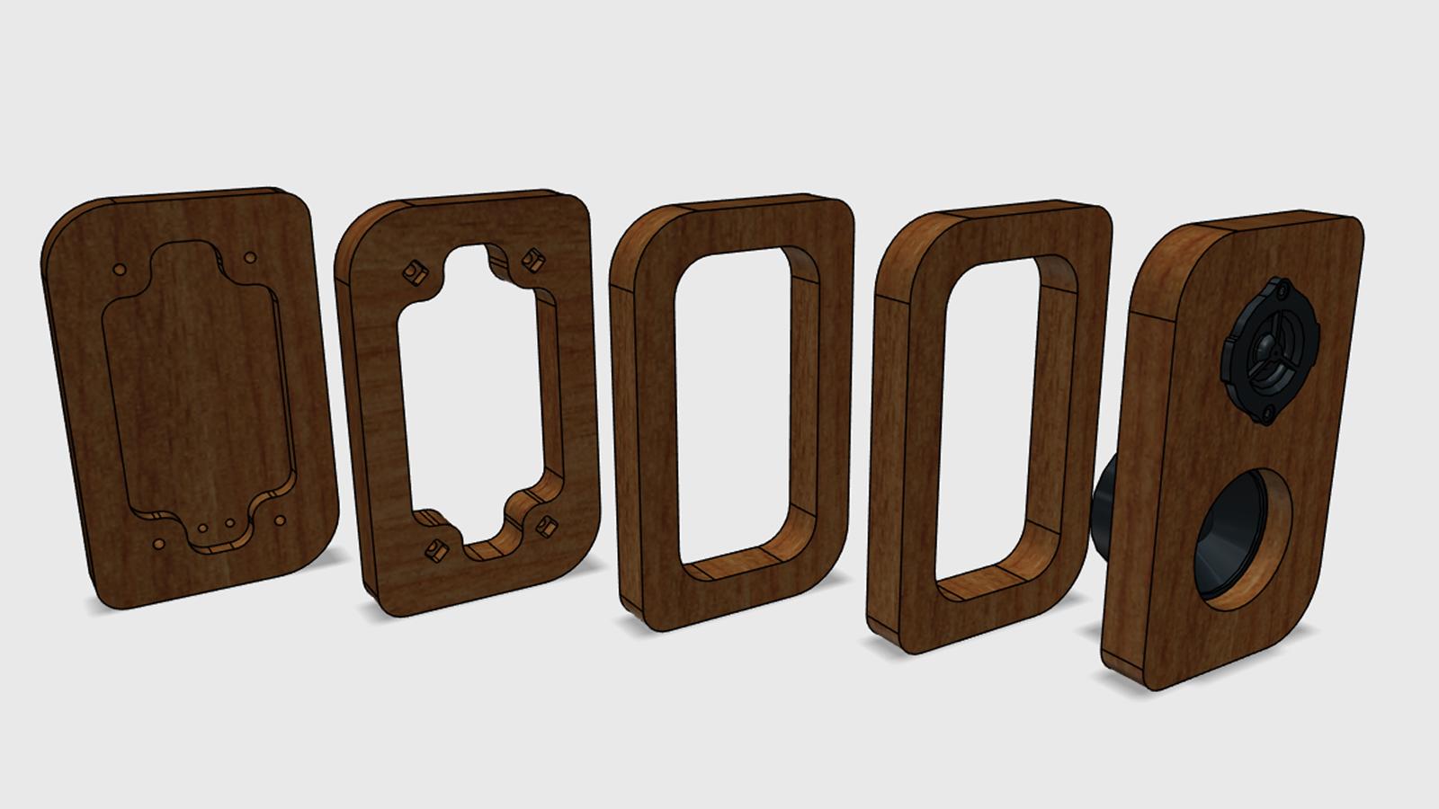 Reproduktory z akátového dřeva - expode