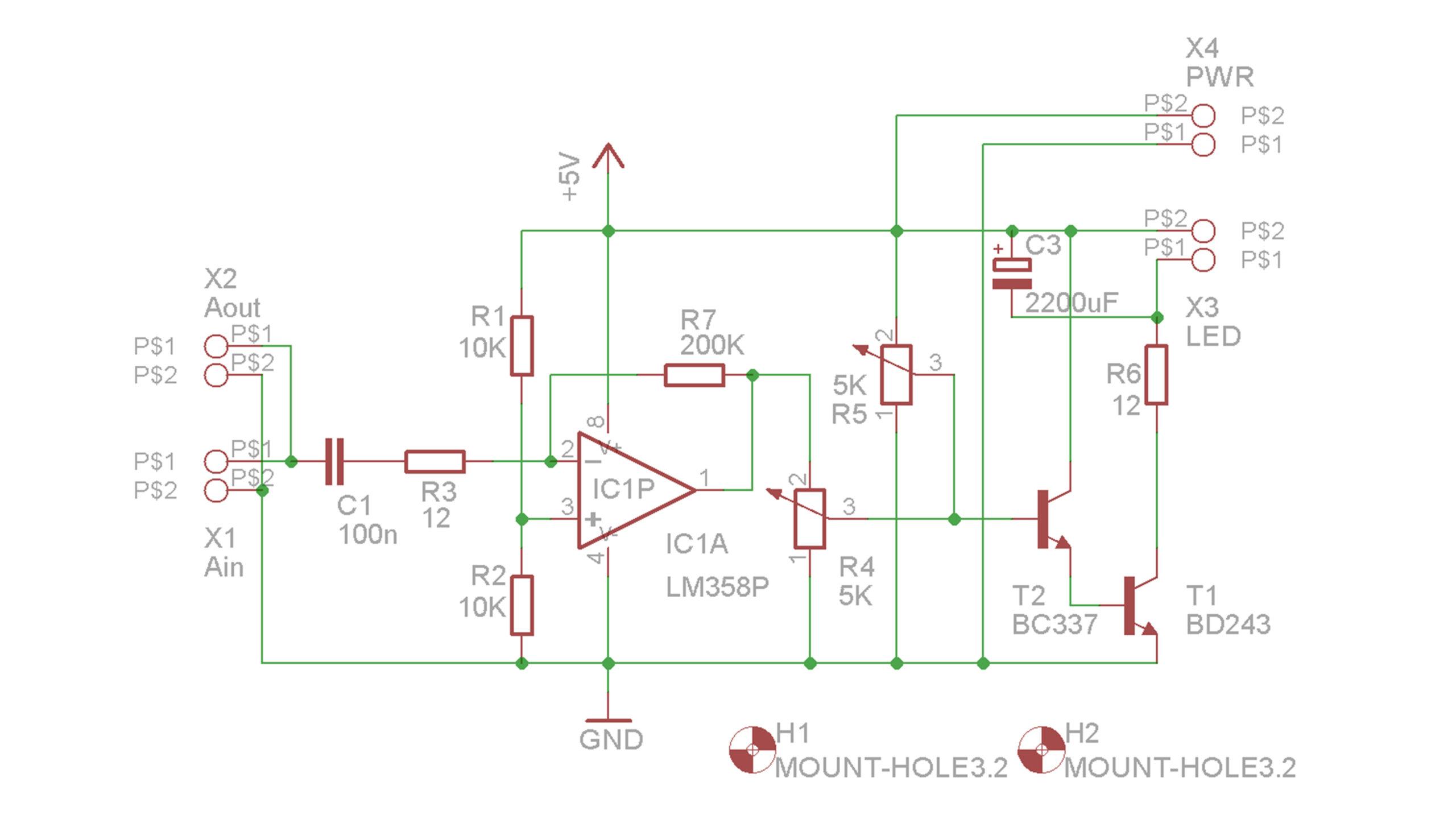 Aura - zapojení řídicí elektroniky