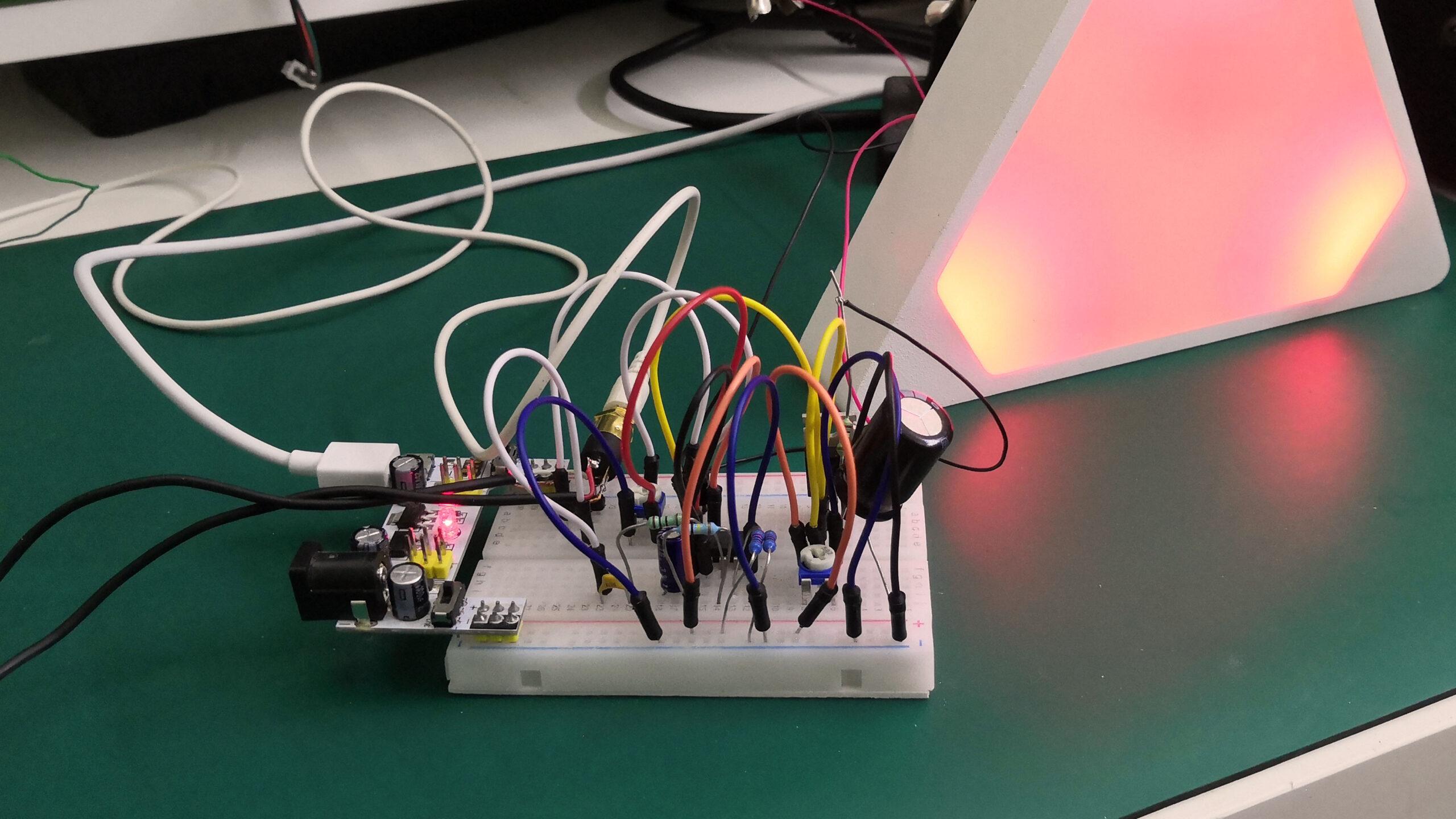 Aura - testovací zapojení