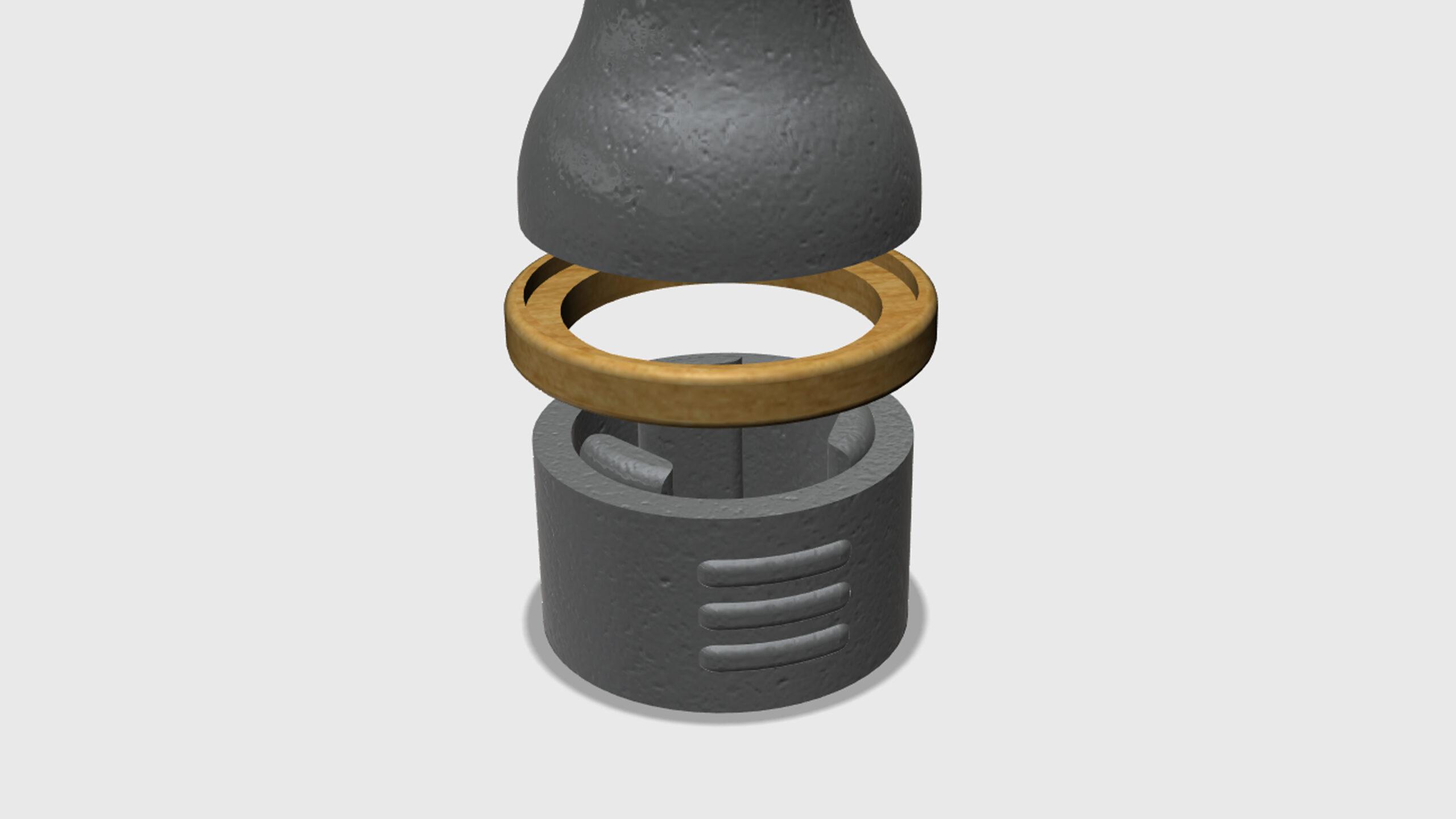 Model popelníku - mezikruží