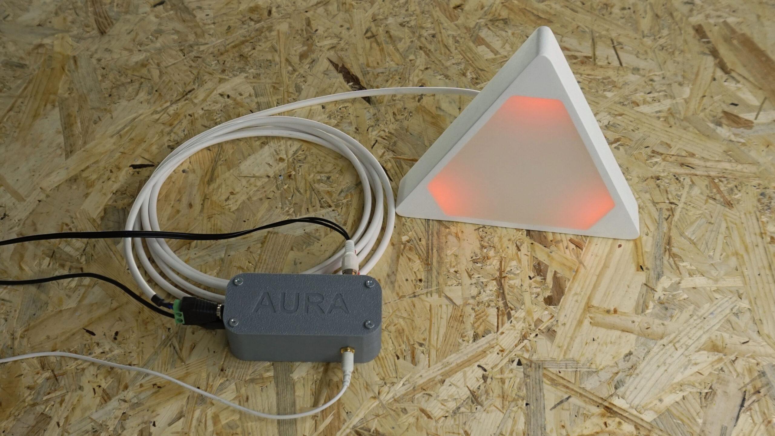 Aura - zapojení elektroniky